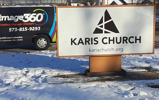 Karis Church Monument Sign